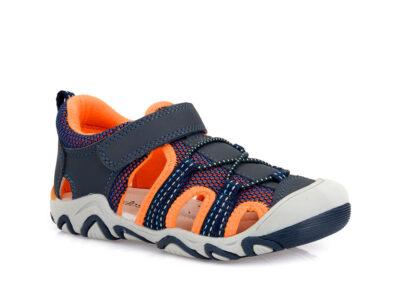 Αγορίστικα ανατομικά καλοκαιρινά παπουτσοπέδιλα IQ KIDS RONNY-140 DARK NAVY