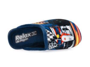 Αγορίστικα ανοιχτά χειμερινά παντοφλάκια RELAX 3098 MARINO