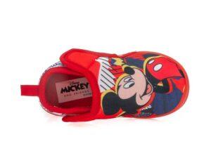 Αγορίστικα κλειστά χειμερινά παντοφλάκια MICKEY DISNEY D 2010057 T RED