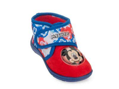 Αγορίστικα κλειστά χειμερινά παντοφλάκια Mickey Mouse DISNEY D 2010059 T RED