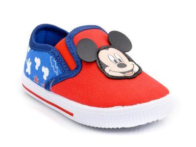 Αγορίστικα πάνινα παπουτσάκια MICKEY DISNEY TZ-MK 000403 RED