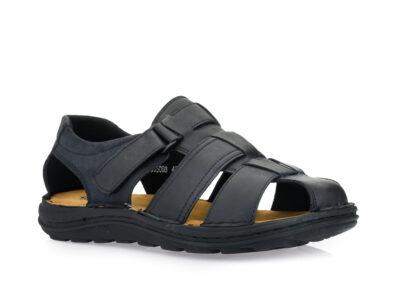 Ανδρικά δερμάτινα ανατομικά παπουτσοπέδιλα GALE 365068 BLACK