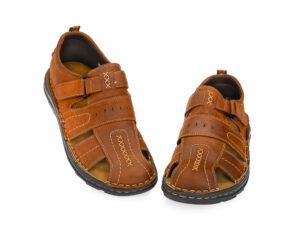 Ανδρικά καλοκαιρινά δερμάτινα παπουτσοπέδιλα GALE 365069 TAN