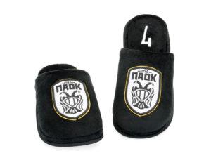 Ανδρικές χειμερινές ανατομικές παντόφλες PAOK PAREX 10118142 BLACK
