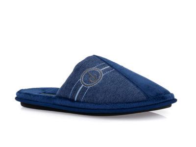 Ανδρικές χειμερινές ανατομικές παντόφλες PAREX 10120041 BLUE