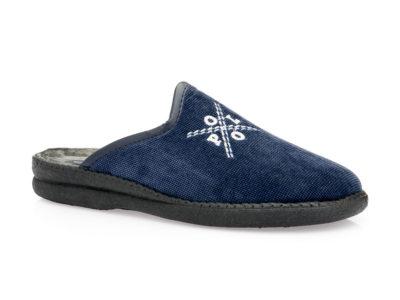 Ανδρικές χειμερινές παντόφλες FAME NL 1257 BLUE