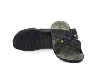 Ανδρικές καλοκαιρινές παντόφλες εξόδου FAME AB 46/395 BLACK