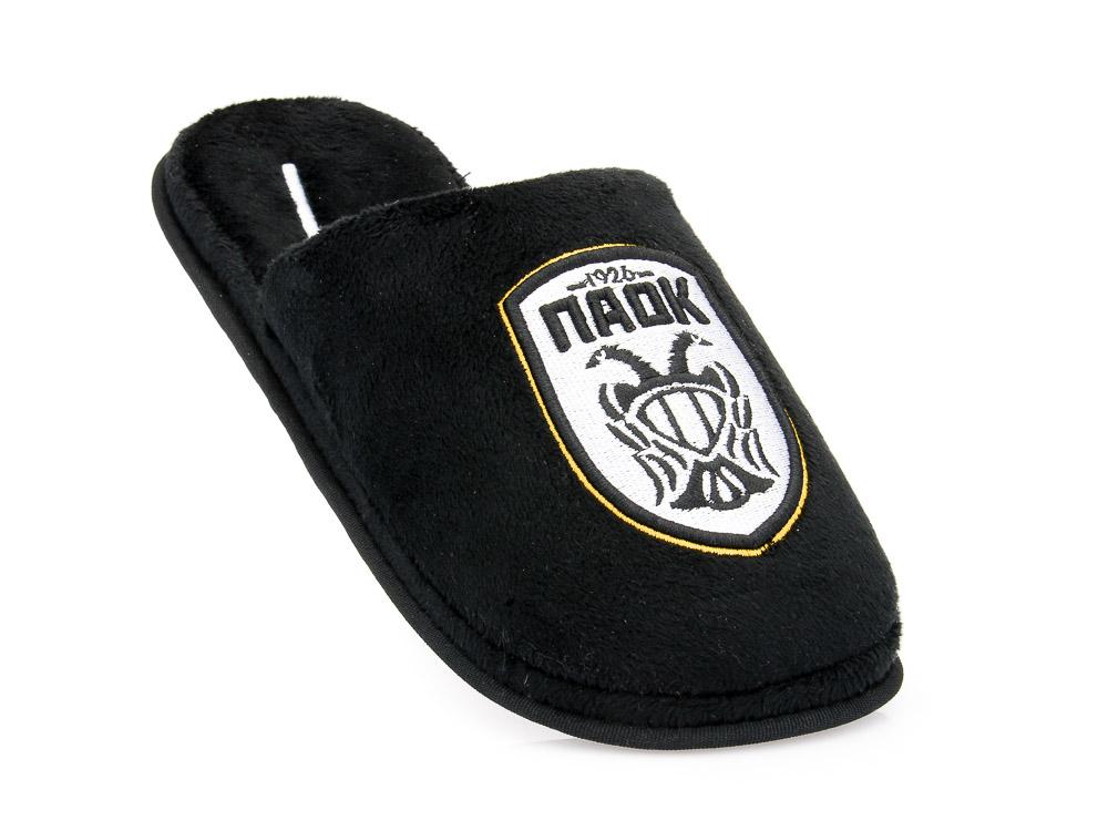Εφηβικές ανατομικές χειμερινές παντόφλες PAOK PAREX 10118141 BLACK