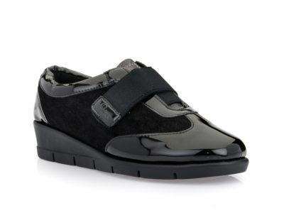 Γυναικεία ανατομικά παπούτσια PAREX 10720010 BLACK