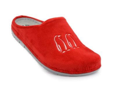 Γυναικεία χειμερινή ανατομική παντόφλα FILD SIENNA 01 RED
