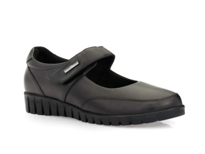 Γυναικεία δερμάτινα ανατομικά παπούτσια VIP 005-7235 BLACK