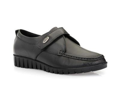 Γυναικεία δερμάτινα ανατομικά παπούτσια VIP 005-9706 BLACK