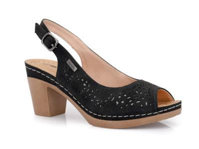 Γυναικεία καλοκαιρινά πέδιλα με τακούνι BLONDIE 31/168 BLACK