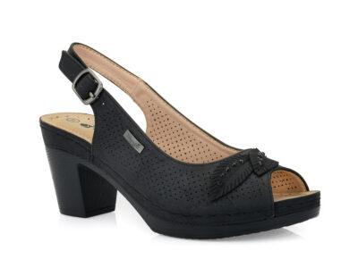 Γυναικεία καλοκαιρινά πέδιλα με τακούνι BLONDIE 31/184 BLACK