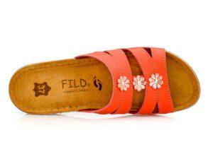 Γυναικείες ανατομικές παντόφλες FILD MILENA-903 RED