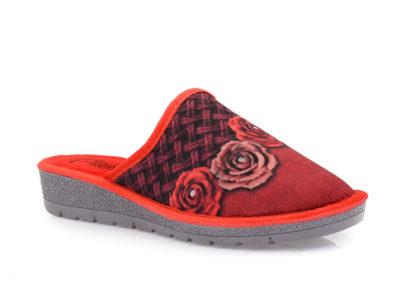 Γυναικείες χειμερινές παντόφλες 3 ROSE 1414 ROSSO