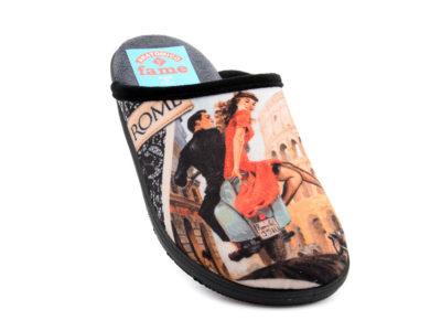 Γυναικείες χειμερινές παντόφλες FAME LS-117106 BLACK