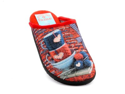 Γυναικείες χειμερινές παντόφλες FAME LS-118221 RED