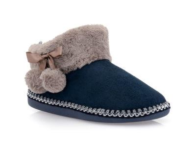 Γυναικείες χειμερινές παντόφλες μποτάκια B-SOFT 18004 BLUE