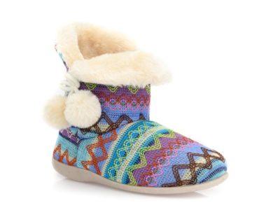 Γυναικείες χειμερινές παντόφλες μποτάκια B-SOFT 2046. BLUE