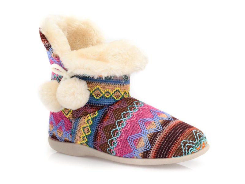 Γυναικείες χειμερινές παντόφλες μποτάκια B-SOFT 2046. FUCHSIA