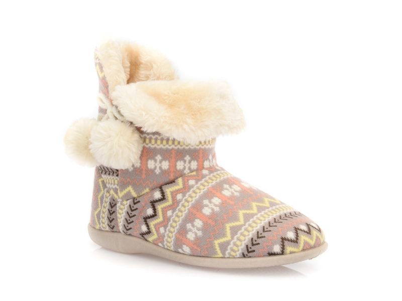 Γυναικείες χειμερινές παντόφλες μποτάκια B-SOFT 2046. PINK