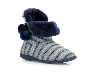 Γυναικείες χειμερινές παντόφλες μποτάκια B-SOFT 2047. BLUE