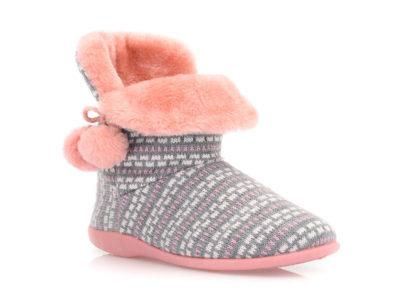 Γυναικείες χειμερινές παντόφλες μποτάκια B-SOFT 2047. GREY