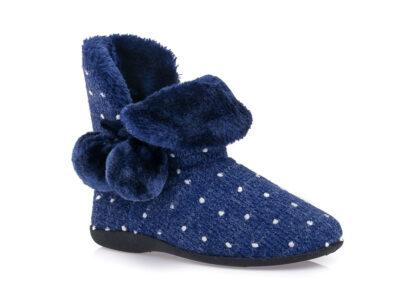 Γυναικείες χειμερινές παντόφλες μποτάκια B-SOFT 2063 BLUE