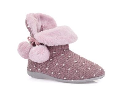 Γυναικείες χειμερινές παντόφλες μποτάκια B-SOFT 2063 PURPLE