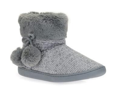 Γυναικείες χειμερινές παντόφλες μποτάκια B-SOFT 93/19008 GREY
