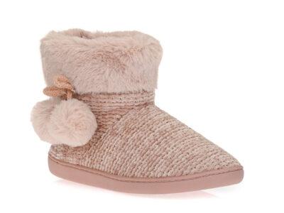 Γυναικείες χειμερινές παντόφλες μποτάκια B-SOFT 93/19008 PINK