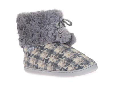 Γυναικείες χειμερινές παντόφλες μποτάκια PAREX 10124279 GREY