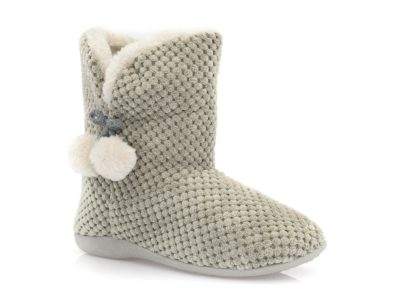 Γυναικείες χειμερινές παντόφλες μποτάκια SABINO TM 005C-2049. GREY
