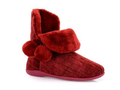 Γυναικείες χειμερινές παντόφλες μποτάκια SABINO TM 005C-2060 BORDEAU