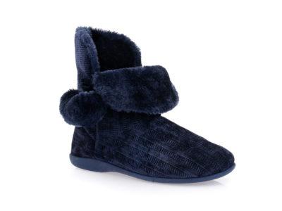 Γυναικείες χειμερινές παντόφλες μποτάκια SABINO TM 005C-2060 NAVY