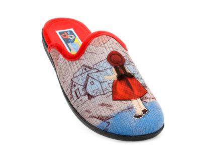 Γυναικείες χειμερινές παντόφλες SABINO 4124.777 RED