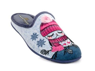Γυναικείες χειμερινές παντόφλες ΥΦΑΝΤΙΔΗΣ 2088 AZUL