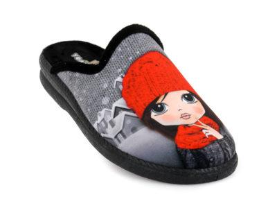 Γυναικείες χειμερινές παντόφλες ΥΦΑΝΤΙΔΗΣ 4624.26 GRIS/NEGRO