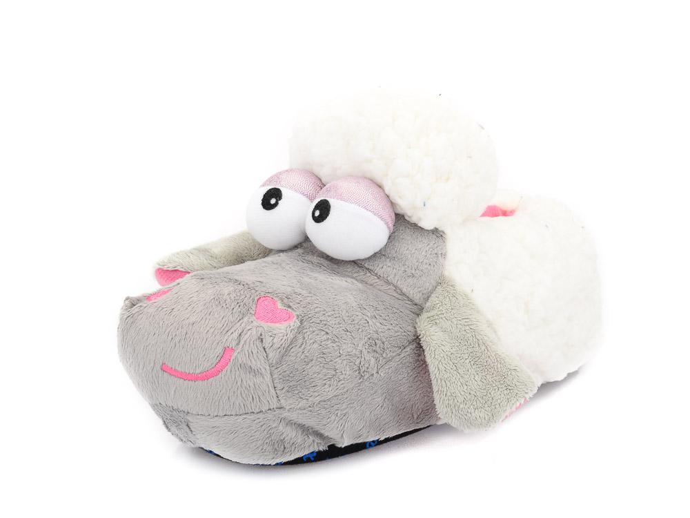 Γυναικείες χειμερινές παντόφλες ζωάκια PAREX 10118271 GREY