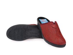 Γυναικείες χειμερινές υφασμάτινες παντόφλες FAME LS 30352 BORDO
