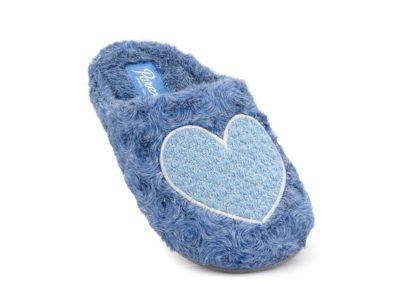 Γυναικείες χειμερινές υφασμάτινες παντόφλες PAREX 10118182 BLUE