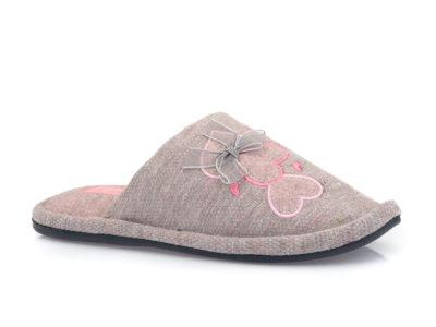 Γυναικείες χειμερινές υφασμάτινες παντόφλες PAREX 10120069 GREY