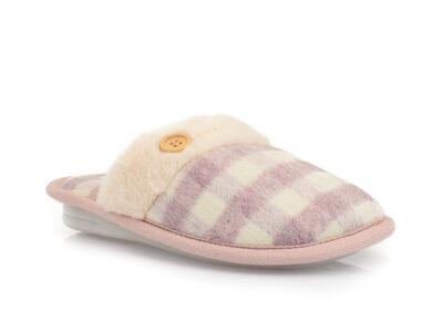 Γυναικείες χειμερινές υφασμάτινες παντόφλες PAREX 10122005 LILAC