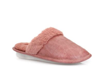 Γυναικείες χειμερινές υφασμάτινες παντόφλες PAREX 10122010 PINK