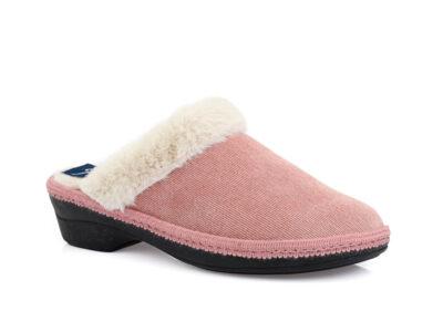 Γυναικείες χειμερινές υφασμάτινες παντόφλες PAREX 10122211 PINK