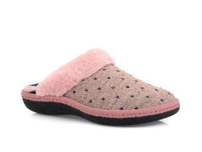 Γυναικείες χειμερινές υφασμάτινες παντόφλες PAREX 10122217 PINK