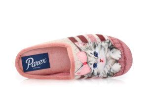 Γυναικείες χειμερινές υφασμάτινες παντόφλες PAREX 10122241 PINK