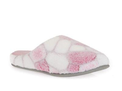 Γυναικείες χειμερινές υφασμάτινες παντόφλες PAREX 10124017 PINK