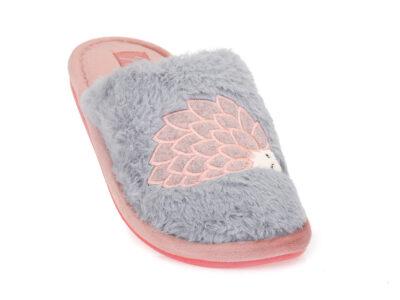 Γυναικείες χειμερινές υφασμάτινες παντόφλες PAREX 10124106 GREY